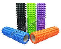 Валик массажный 45х13 см Spikes Roller PRO (ролик, валик спортивный для массажа спины, мышц, ног)