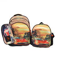 Рюкзак школьный  с пеналом и ланчбоксом   Glossy Bird GB2337