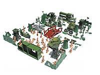 Военный набор солдатиков укреплений оружие танки лодки 130 шт C