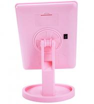 Зеркало для макияжа с LED подсветкой 22 Large LED Mirror Розовое, фото 3