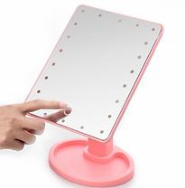 Зеркало для макияжа с LED подсветкой 22 Large LED Mirror Розовое, фото 2