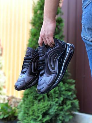 Кроссовки мужские легкие на воздушной подошве цвет серый с черным демисезонные, фото 2