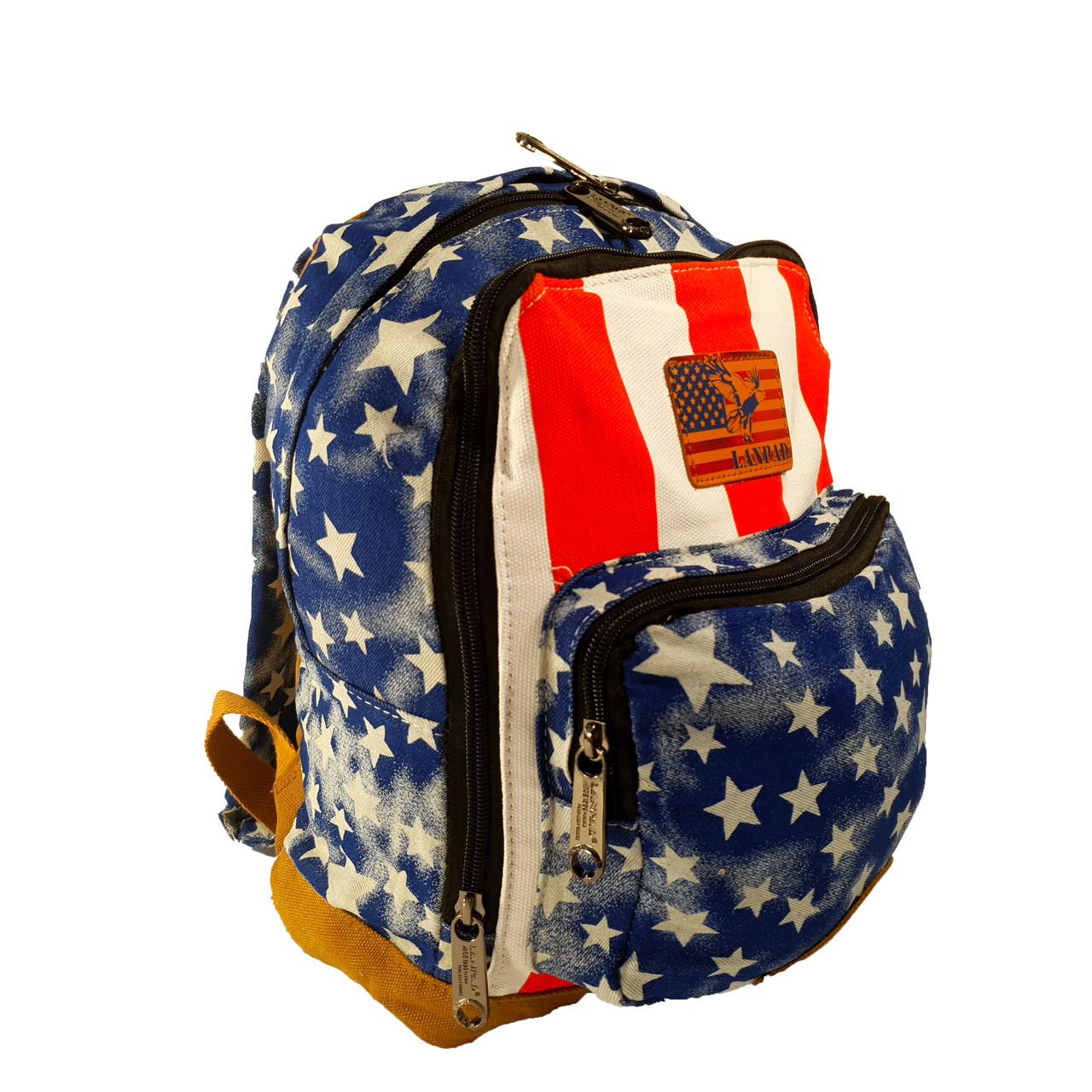 Брезентовый(джинсовый) малый рюкзак Lanpad