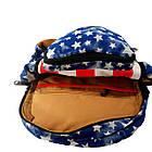 Брезентовый(джинсовый) малый рюкзак Lanpad, фото 7