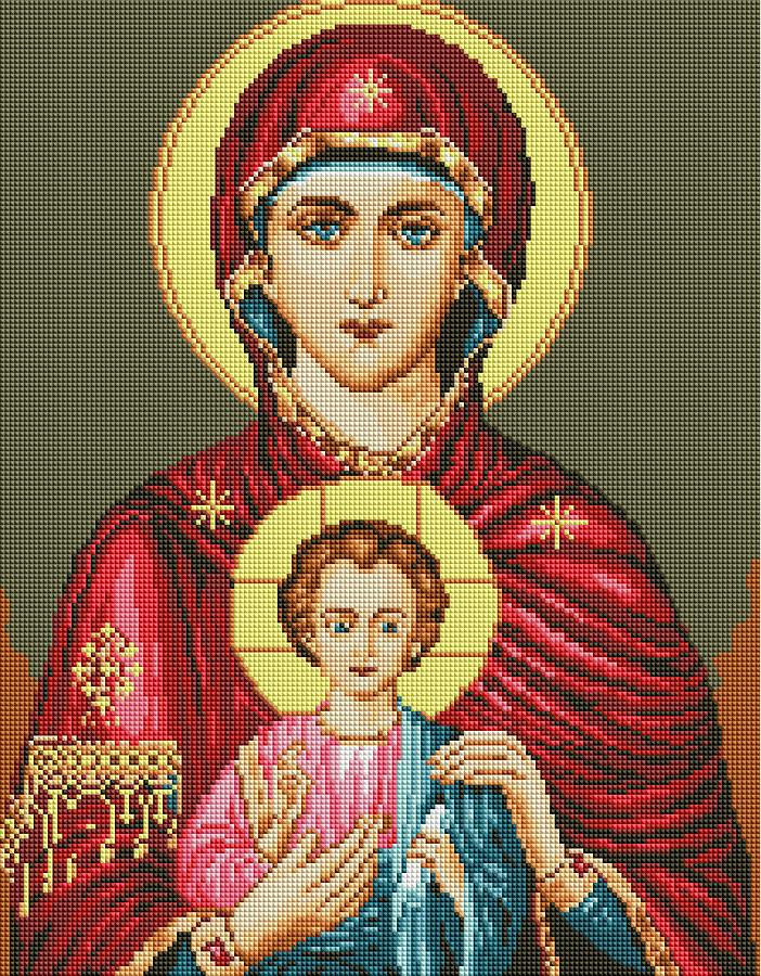 Икона Исус и Мария