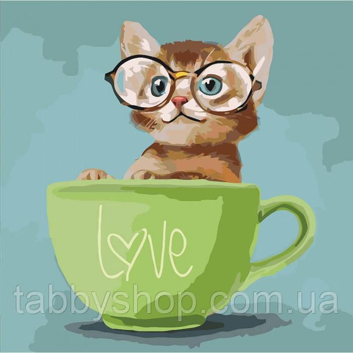Картина по номерам Идейка - Lovely kitten