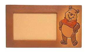 """Рамка для дитячого фото горизонтальної орієнтації з натуральної шкіри """"Вінні-Пух"""""""