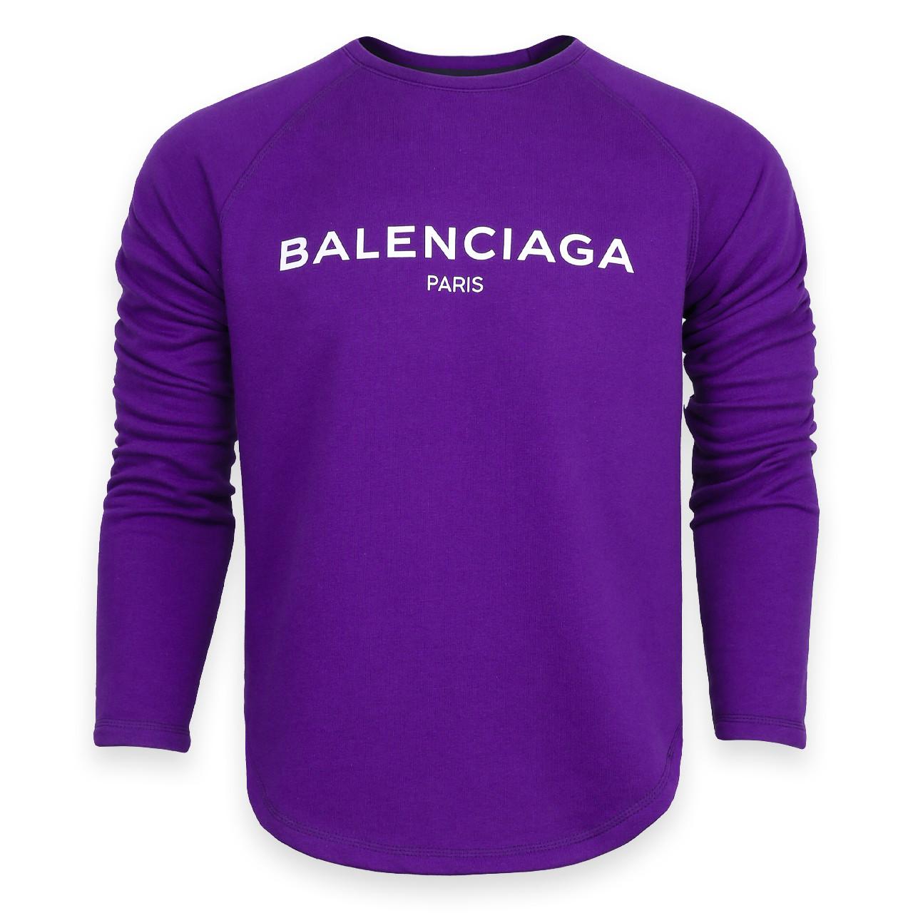 Свитшот фиолетовый BALENCIAGA с лого Р-2 PUR L(Р) 20-510-201