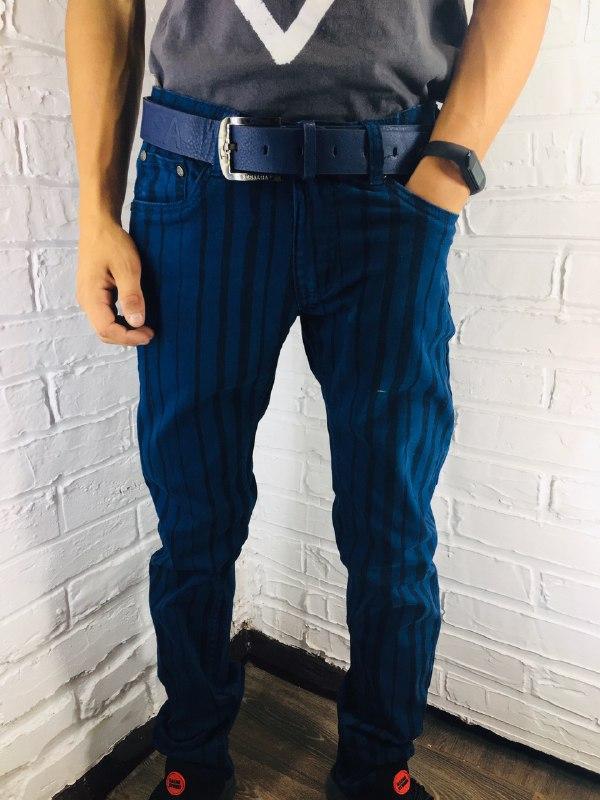 Чоловічі джинси 8063-3 сині 29-32