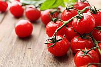 Салат с обжаренными помидорами черри