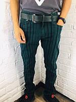 Мужские джинсы 8063-1 бутылочного цвета 29-36