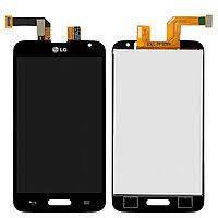 Дисплей для LG Optimus L70 D320, D321, MS323, модуль в сборе (экран и сенсор), черный