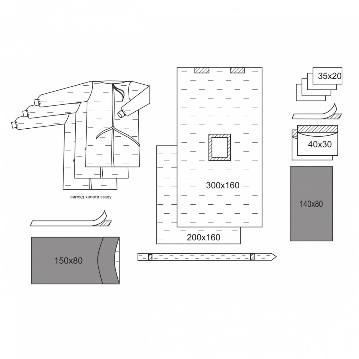 Комплект одежды и операционных покрытий для лапароскопии № 1/В «Славна®» стерильный