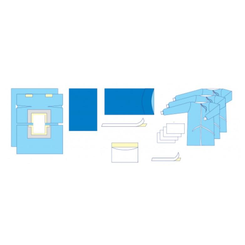 Комплект одежды и операционных покрытий для лапаротомии № 2/В «Славна®» стерильный