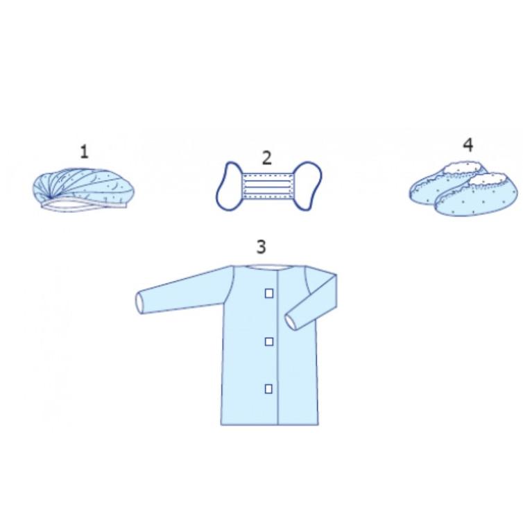 Комплект одежды для посетителя № 6 «Славна®» стерильный