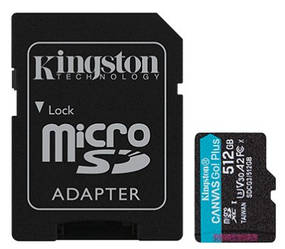 Kingston Canvas Go! Plus microSD (SDCG3/512GB)