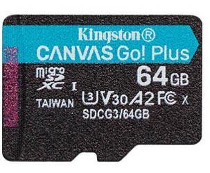 Kingston Canvas Go! Plus microSD (SDCG3/64GBSP)