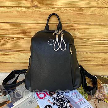 Женский стильный городской рюкзак Velina Fabbiano Черный