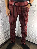 Мужские джинсы 8063 бордовые 29-38