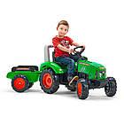 Дитячий педальний трактор з причепом Falk 2021AB для дітей, фото 2