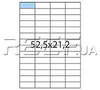TAMA™ Этикетка A4 - 56 штук на листе 52,2x21,2 (100 листов), фото 1