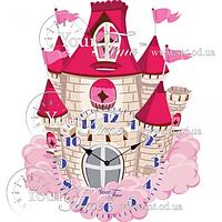 Часы настенные Замок детские МДФ 32,5 * 4,5 * 39см