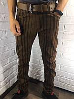 Мужские джинсы 8063-4 горчичные 29-38