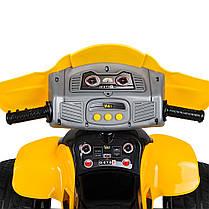 Детский квадроцикл Bambi желтый ZP 5118, фото 3