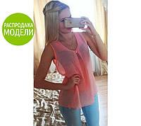 "Шифоновая блуза ""Волна"" | Распродажа модели, фото 1"