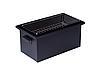 Коптильня горячего копчения крышка Домиком 520х300х310 окрашенная Черная, фото 3