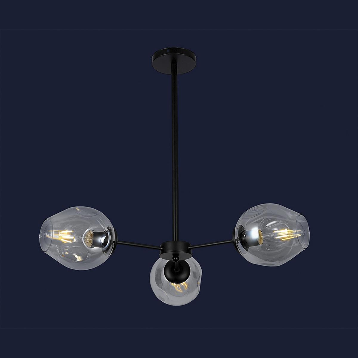 Современная люстра в стиле Loft с шариками цвет черный Levistella&7526039-3 BK+CL