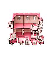 Кукольный дом 57х27х35 с гаражом и подсветкой В014, фото 1