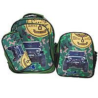 Рюкзак школьный  с пеналом и ланч боксом   Glossy Bird GB2367  с подсветкой фар