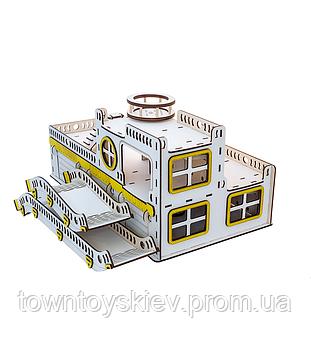 Игрушечный гараж для машинок. Гоночна база G001 деревянный