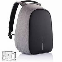 Городской рюкзак антивор под ноутбук Бобби Bobby с USB / с защитой от краж серый