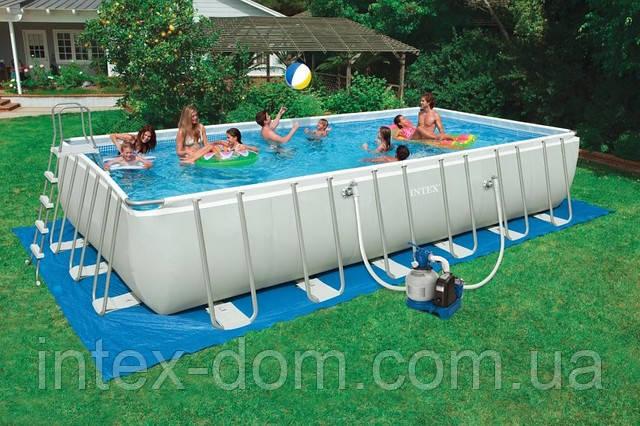 Бассейн каркасный Intex Rectangular Ultra Frame Pool - 54984/28362 732х366х132см
