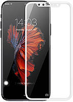 Защитное стекло Baseus 0.2mm Silk-Screen Tempered Glass Film для iPhone X White