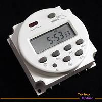 Таймер электронный реле времени 12В 16A программируемое недельное интервальное автономное питание