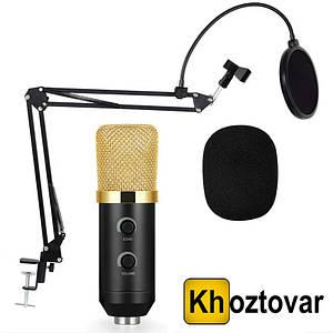 Студійний мікрофон зі стійкою і вітрозахистом Music D. J. M800U