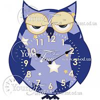 Часы настенные Сова детские МДФ 27 * 4,5 * 33см