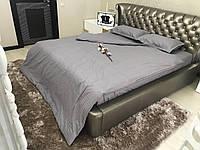 Двуспальный комплект постельного белья Страйп-Сатин (100% хлопок) Постільна білизна