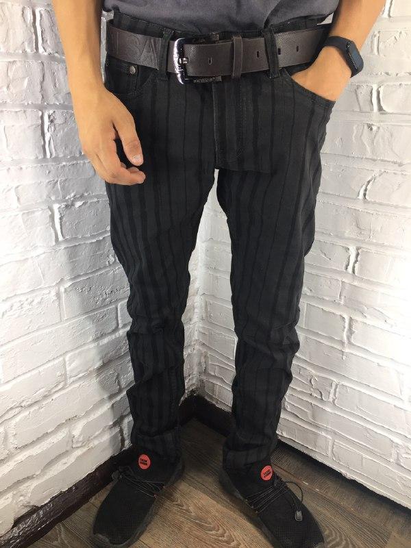 Мужские джинсы 8063-6 коричневые 29-38