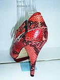 Туфли женские на высоком каблуке 11026501, фото 3