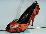 Туфли женские на высоком каблуке 11026501, фото 4