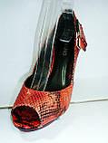 Туфли женские на высоком каблуке 11026501, фото 5