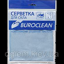 Серветка мікрофібра для скла і дзеркал Buroclean