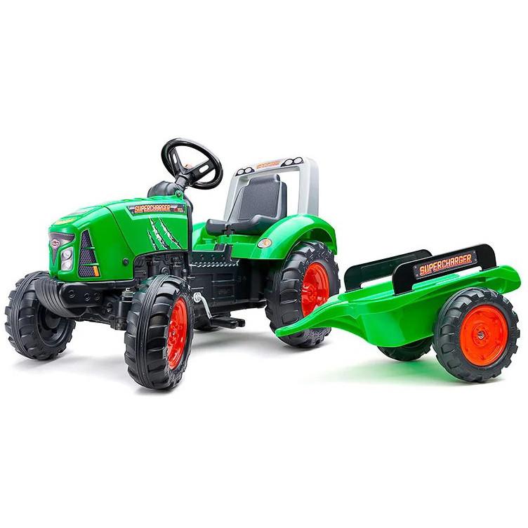Детский педальный трактор с прицепом Falk 2021AB для детей