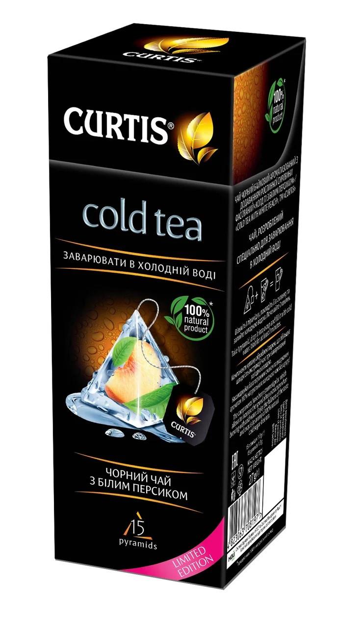 Черный чай с персиком Curtis Cold Tea для заваривания в холодной воде 15 пирамидок
