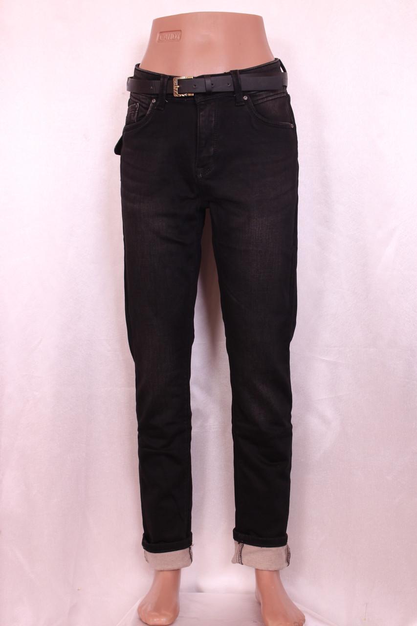 Женские  утепленные джинсы больших размеров,зауженные