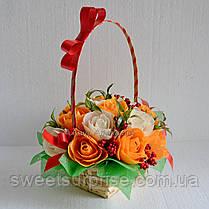 """Корзина с цветами из конфет """"Осенний вальс"""", фото 3"""
